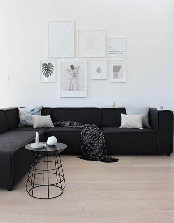 Black and white decor in the room 2