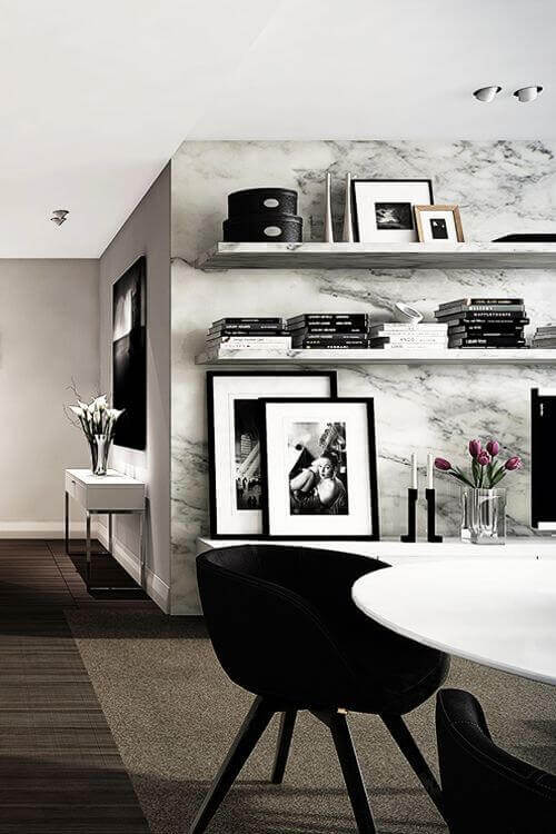 Black and white decor in the room 6