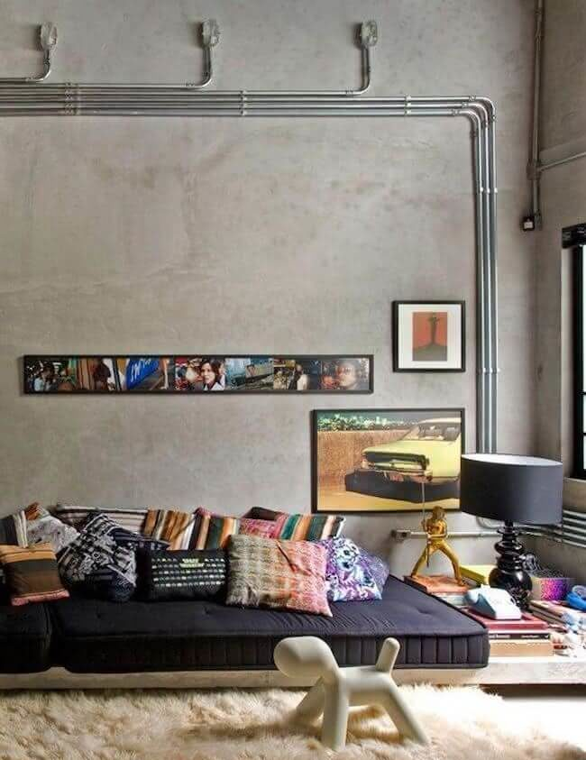 Industrial decor for living room 2