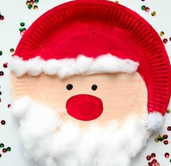 4– Santa Claus on the plastic plate